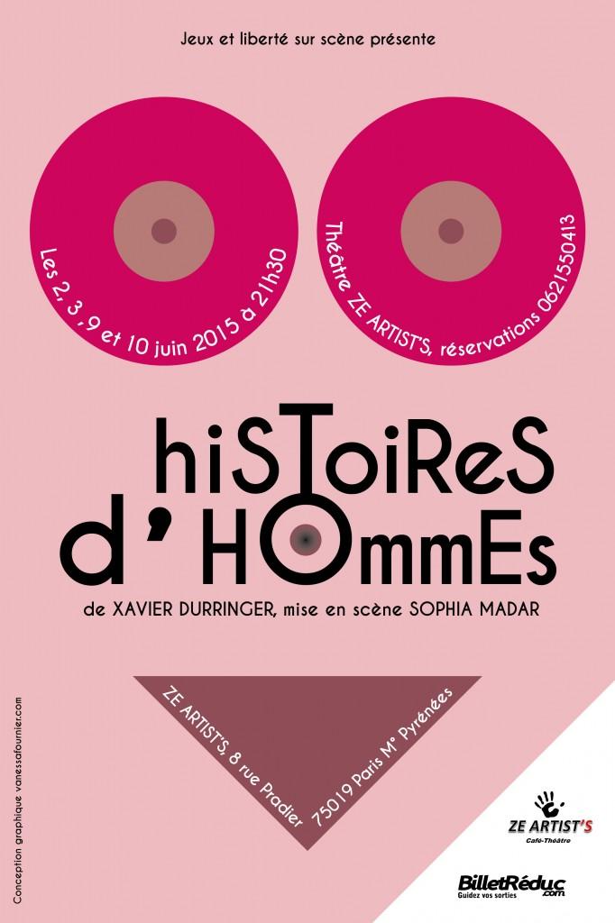 Affiche theatre histoire d'hommes